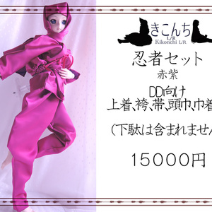 last1 DD系サイズ 忍者セット 赤紫