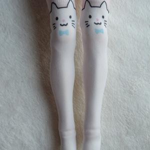 【再販準備中】1/3級向け ニーソックス オリジナルプリント 白猫