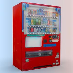 3D自動販売機モデル [ローポリ△12][高解像度テクスチャ][VRChat]