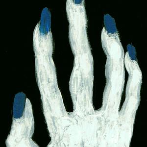 【スマホ壁紙画像附キ.】[ 蒼白い手.] スマホリング縦/横.