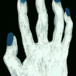 【スマホ壁紙画像附キ.】[ 蒼白い手.] 正・側面印アイフォンケース.