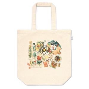 トートバッグ「花とドライフルーツ」
