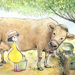 メイと牛(メイと牧場のどうぶつたちより)