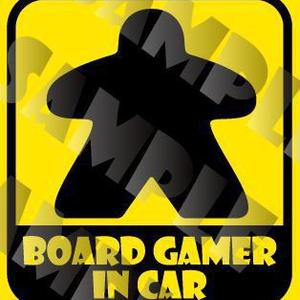 【通販予約】マグネットステッカー『BOARD GAMER IN CAR』