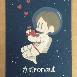 アストロノーツメッセージカード