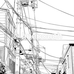 見上げた電線