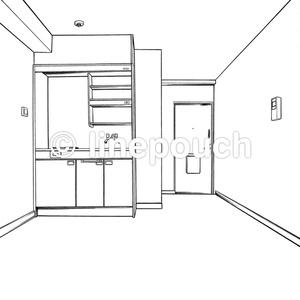 1Rの洋室