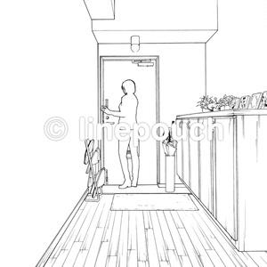 マンションの玄関