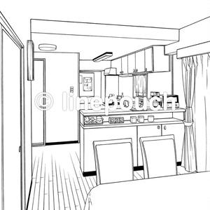 ダイニングキッチン(カウンター付き)