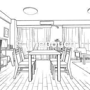 【無料DL可】ダイニングキッチン(LDK+書斎)