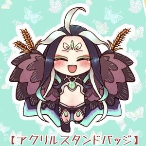 仙麦の妖精さんアクリルバッジ