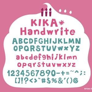 フリーフォント kika*handwrite