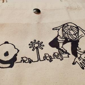 一筆描き(刺繍トートバッグ)