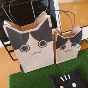 しまじゃない猫紙袋<手提げタイプ>