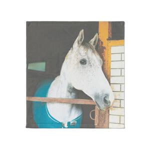 かわいいあしげ馬タオル