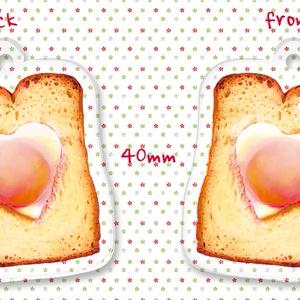 神楽ちゃんの目玉焼きトーストアクリルストラップ