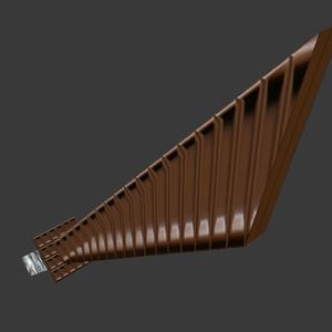 無料3Dモデル「チョコレー刀」