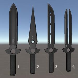 オリジナル武器「黒色短剣」