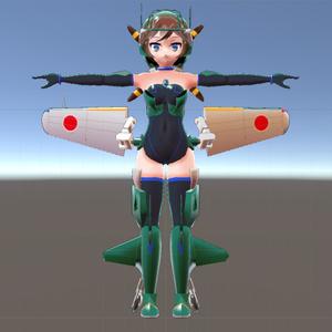 VRChat向け3Dモデル『旋風』