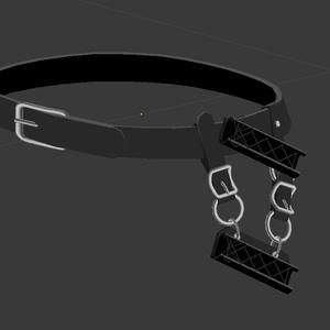 【3Dモデル】剣帯【VRChat向け】