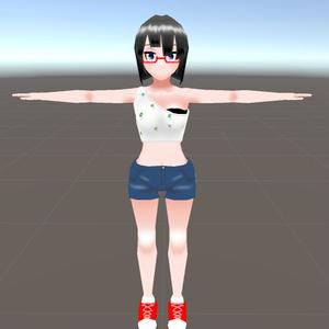 【Oculus Quest考慮アバター】眼鏡山さん【VRChat】