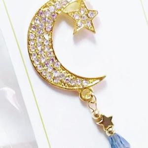 月と星のガラスネックレス【カミュ】