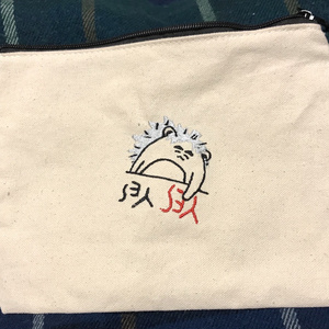 刺繍ポーチ  竹谷タヌキ