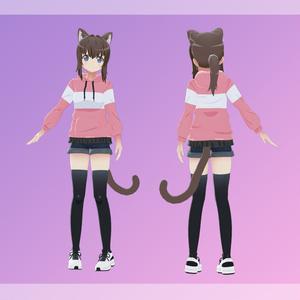 オリジナル3Dモデル 『小林 あまね』