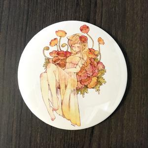 花と少女【缶ミラー】