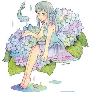 ポストカード各種「花と少女シリーズ」