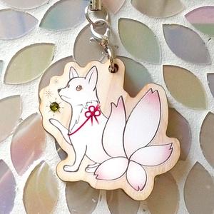 木製キーホルダー(桜狐)
