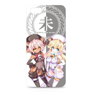 黒と白の羊娘のiPhoneケース