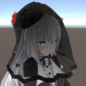 【VRchat向け】ロングトークハット