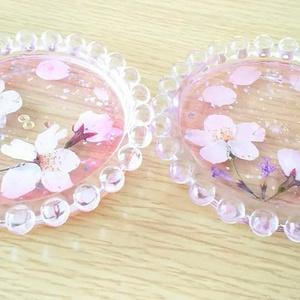桜のオルゴナイトコースター