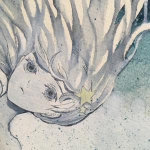 原画【夜にのぼる】木製パネル