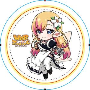 ★初回生産★ 奏音リリィ WoZキャラ風 Vtuber杯 アイコン缶バッチ(丸)