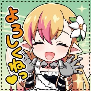 ★初回生産★ 奏音リリィ スタンプ風 アイコン缶バッチ(四角)