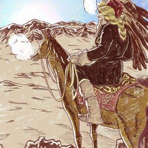 世界のおじちゃん カザフスタンのラハト ポストカード
