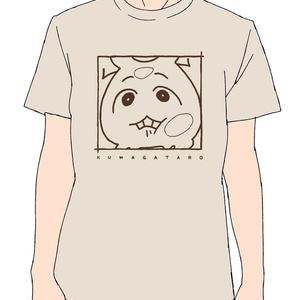 クワガ太郎Tシャツ 接近ver(ヘザーベージュ)