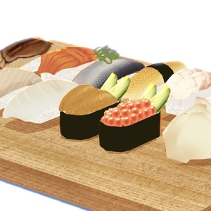 (3Dモデル)お寿司