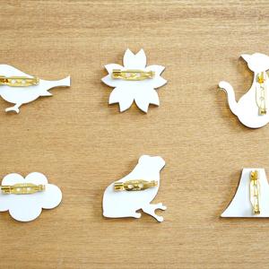 和のカタチミラーブローチ〈ゴールド6種〉