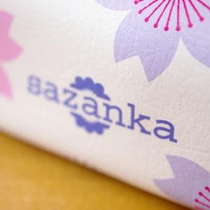 和モダン/合皮製キャラメルポーチ「桜」