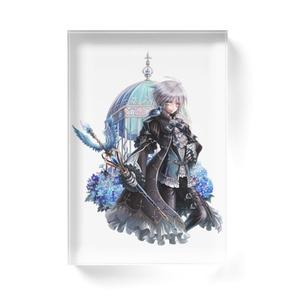 アクリルブロック/青い宝石