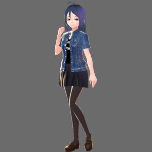 【VRoid用テクスチャ】デニムジャケット