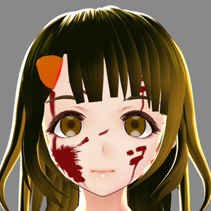 【VRoid用テクスチャ】血のりセット【制服・ワンピース・肌】