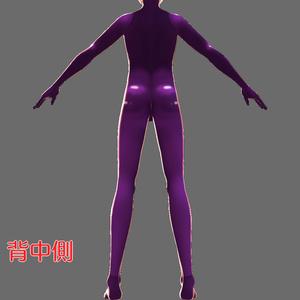 【男性VRoid用テクスチャ】ラバースーツ【6色】