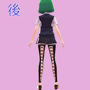【VRoid用テクスチャ】背面開きレッグカバー