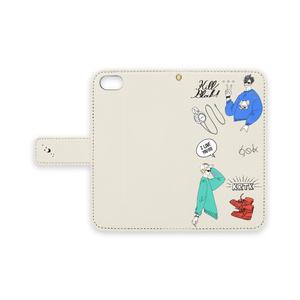 クロ月スマホケース for iPhone