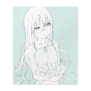 アンニュイな雰囲気のずり落ちた眼鏡の女の子