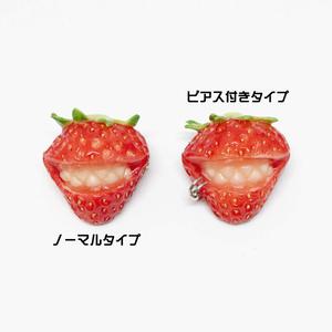 キラーいちご&りんごのブローチ